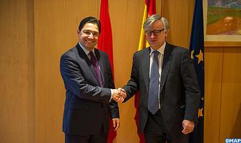 Sr. Bourita, se entrevista en Madrid con el Secretario de Estado español de Asuntos Exteriores