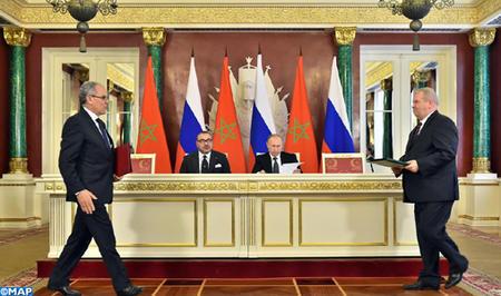 SM el Rey Mohammed VI y el Presidente Vladimir Putin