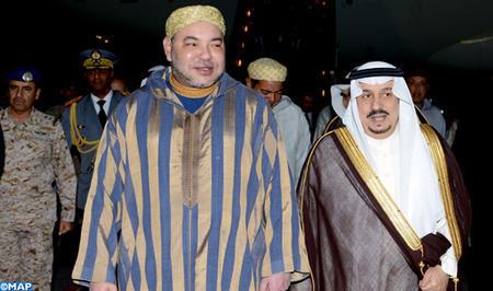 SM el Rey llega a Riad