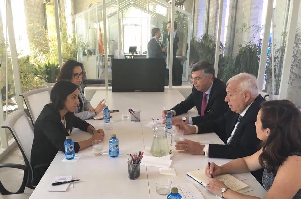 Encuentro bilateral Bouaida Margallo