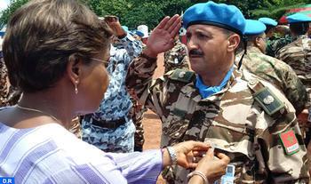 medalla de las Naciones Unidas a los cascos azules marroquíes