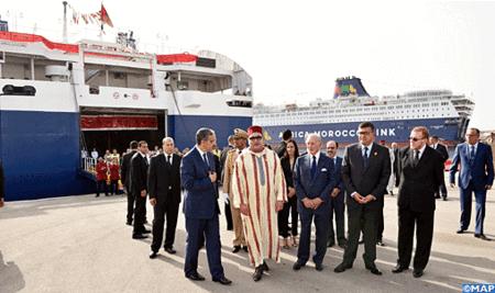 Puerto Tánger Med Voluntad constante de SM el Rey para garantizar el éxito de la operación Marhaba 2016