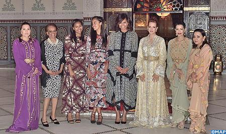 SM el Rey ofrece Iftar en Marraquech en honor de la primera dama de Estados Unidos Michelle Obama