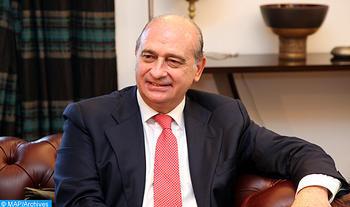 Le ministre de l'Intérieur espagnol, Jorge Fernandez Diaz (MAP/Ayouchi Yassine)