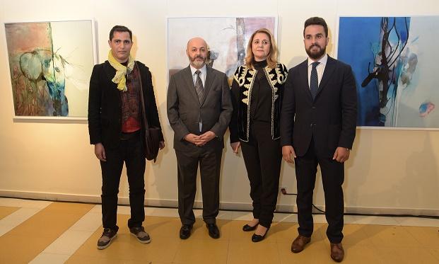 """Exposición colectiva de pintura """"Viaje artístico a través de tres generaciones""""."""