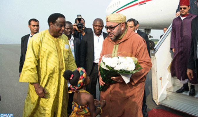SM el Rey Mohammed VI llega a Ghana