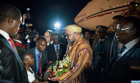SM el Rey llega a Lusaka para una visita oficial a Zambia