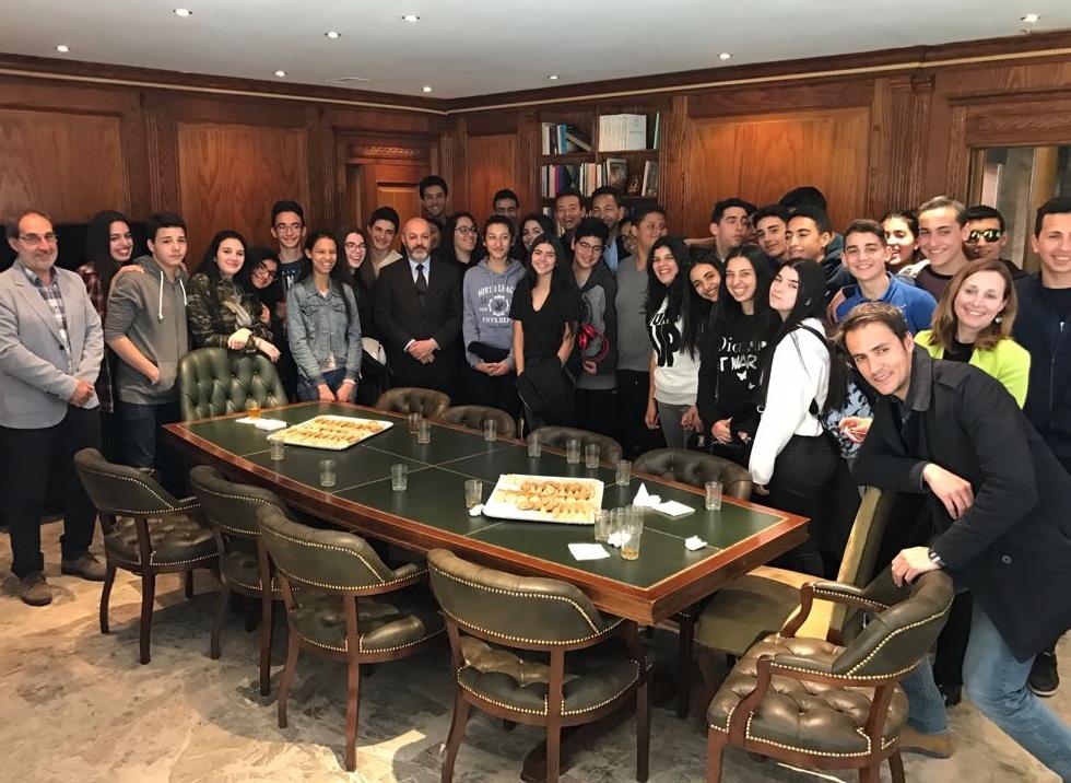 Visita a la Embajada de 34 alumnos del Instituto español Juan Ramón Jiménez de Casablanca