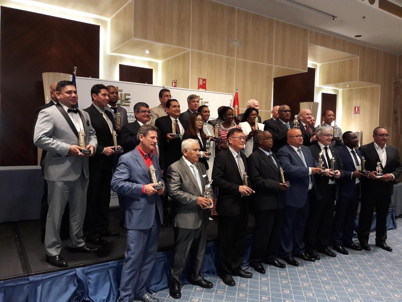 Ceremonia de entrega de los Trofeos Internacionales de Construcción y de Transporte