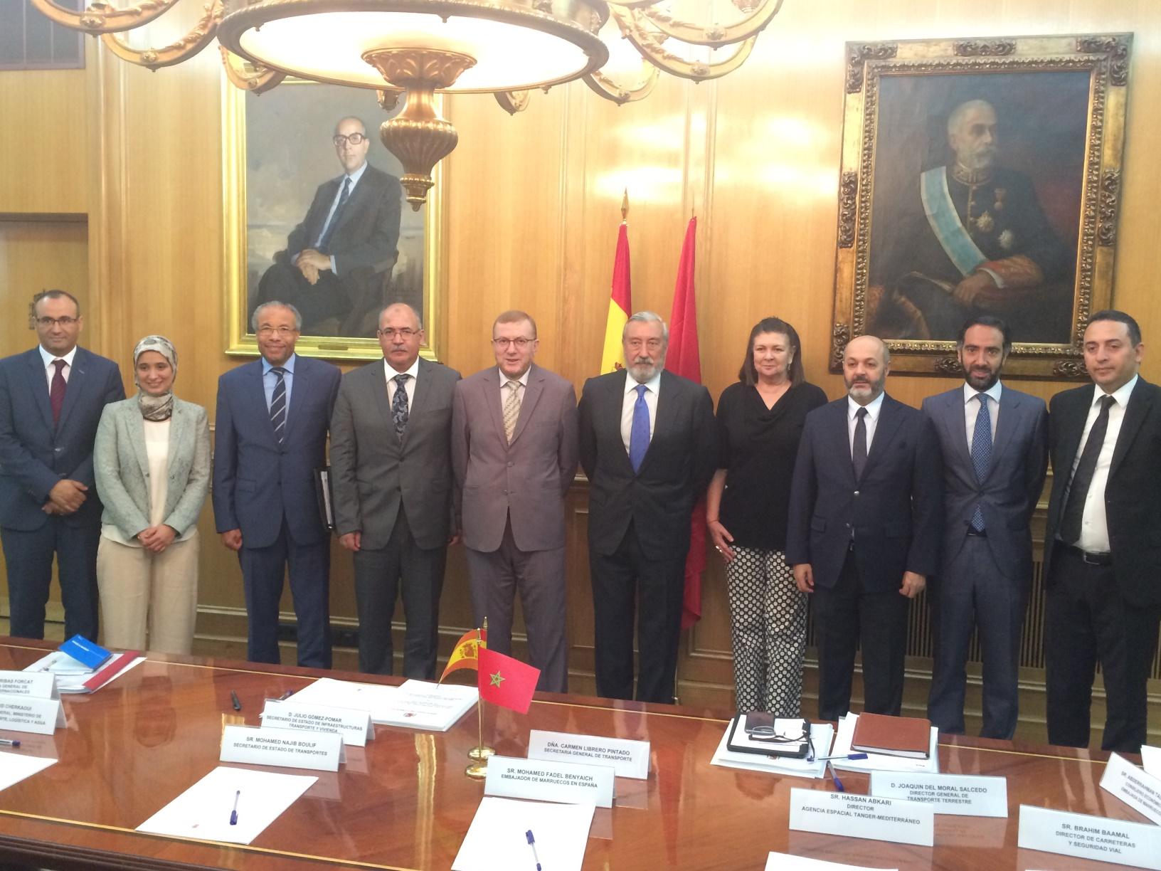 Encuentro bilateral entre el Sr. Mohamed Najib Boulif y el Secretario de Estado de Infraestructuras, Transporte y Vivienda