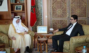 Le Ministre des Affaires Etrangères et de la Coopération Internationale M. Nasser Bourita s'est entretenu, Mercredi (25/10/2017) à Rabat, avec le Secrétaire Général de l'Organisation de Coopération Islamique M. Yousef bin Ahmad Al-Othaimeen.