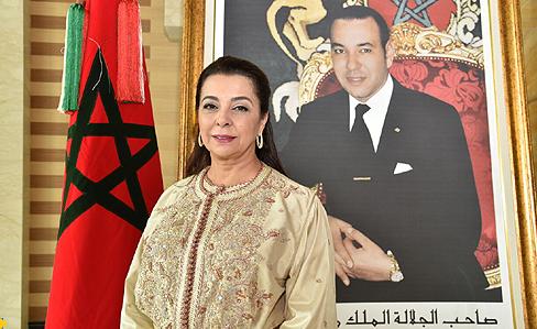Su Excelencia la Sra. Karima Benyaich, primera mujer en ostentar el cargo de Embajadora Extraordinaria y Plenipotenciaria de Su Majestad el Rey ante el Reino de España