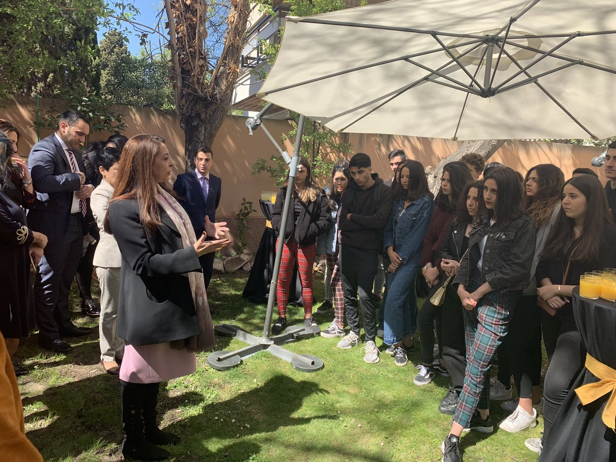 Visita de los alumnos del Instituto Español Juan Ramón Jiménez a la Embajada del Reino de Marruecos en Madrid