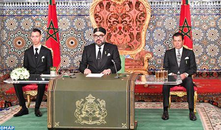SM le Roi Mohammed VI adresse un discours à la Nation- M